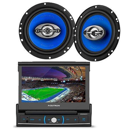 """Kit Som Automotivo DVD Player SP6720DTV com Alto Falante 6"""""""