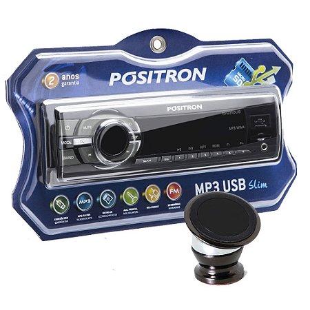 Som Positron 2210 com Suporte Magnetico para celular