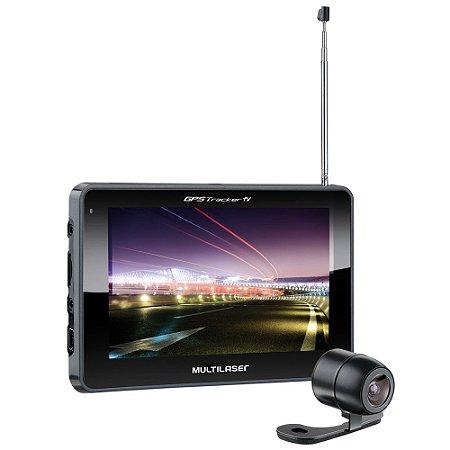 Gps Multilaser Tracker 2 Tela 4,3 Pol  Tv Câmera Ré