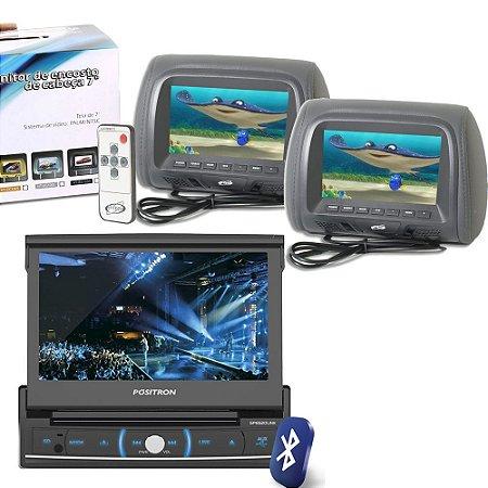 Combo DVD Positron SP6520 com Dois Encosto de Cabeça