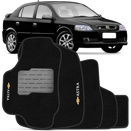 Jogo Tapete Carpete Perso Flash Astra 08 a 11 Preto 5 Pçs