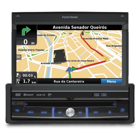 DVD 7 Pósitron SP6900NAV com GPS, Bluetooth e TV Digital