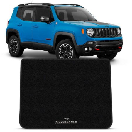Tapete Carpete Perso Flash Mala Jeep Renegade 1 Pç Preto