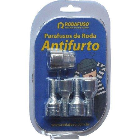 Jogo Porcas Roda Antifurto 12x1,5 Universal
