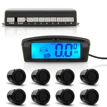 Sensor Re Estacionamento 2508 8 Pontos Preto