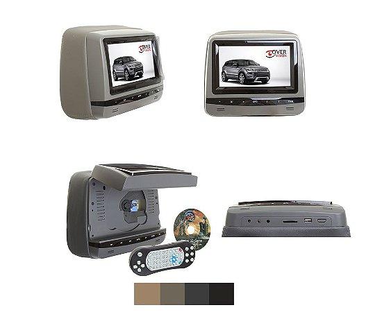 Encosto de cabeça DVD tela 7 Polegadas Master - Grafite