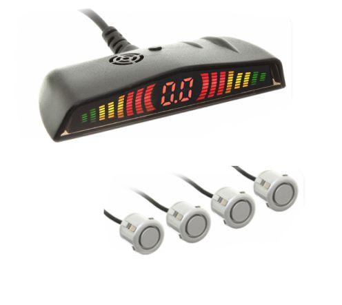 Sensor Re Estacionamento modelo 6104 4 Pontos Prata