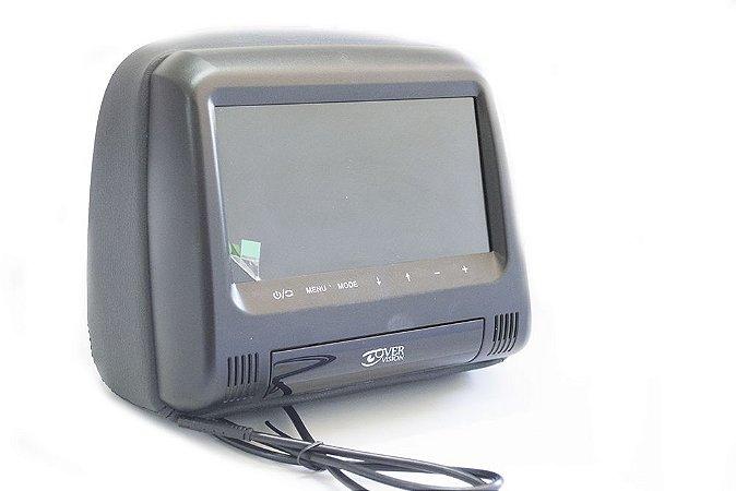 Monitor Encosto Automotivo tela de 7 Pol. escravo - Preto