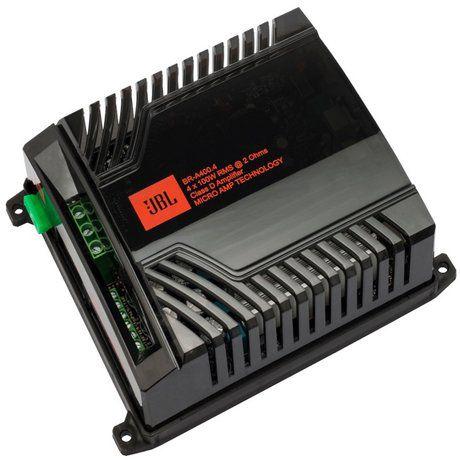 Módulo Amplificador JBL BR-A 400.4 4 Canais 100W RMS 2 Ohms