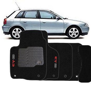Jogo Tapete Carpete Perso Ecotap Audi A3 07 Preto 5 Pçs