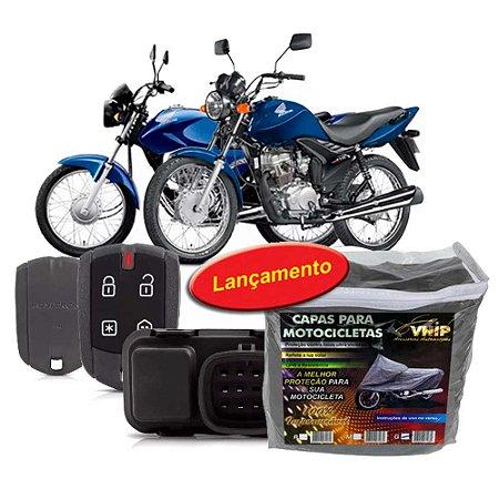 Alarme Moto CG150 Fan125 14 17 + Capa cobrir Moto s Forro G