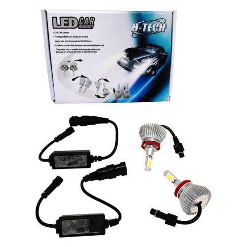 Kit Lampada Super Led H3 6000k 32w 2200 Lum 12V 24V Htech