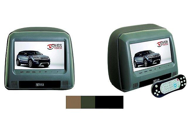 "Monitor Encosto Auto tela 7"" modelo escravo - Cinza Claro"