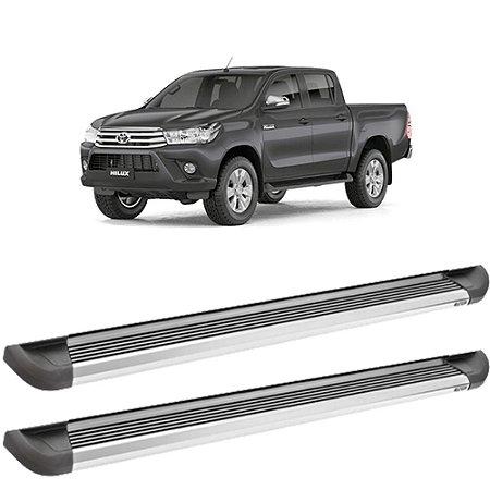 Estribo Bepo Hilux/ Ranger/ S10 Alumínio G2 Polido com Fixação