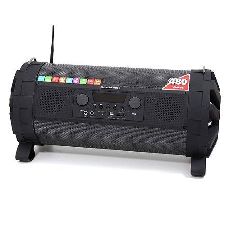 Caixa de som Bluetooth Bazuka XB860 Polyvox 480wRadio FM LED