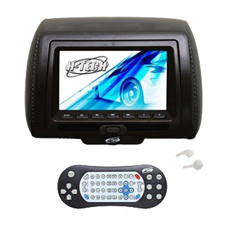 Encosto de Cabeça Monitor 7 Polegadas Leitor de DVD - Preto