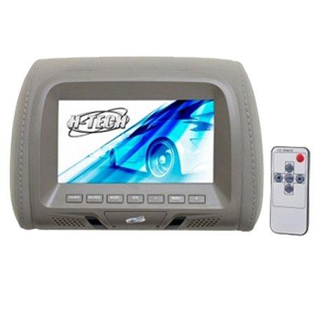 Encosto de Cabeça H-Tech Monitor 7 Polegadas - Cinza