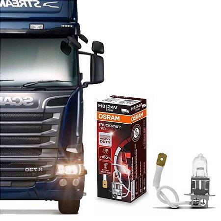 Lâmpada Osram H3 24V 70W Truckstar Pro