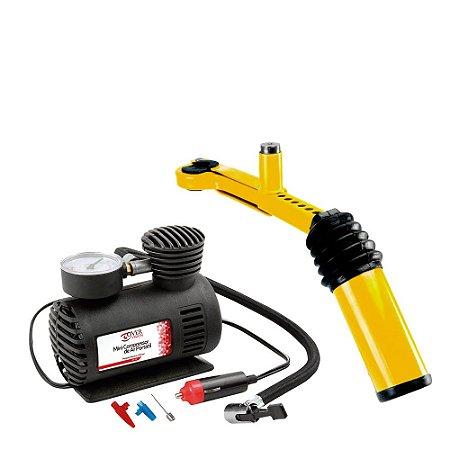 Compressor de Ar Auto 250PSi + Trava Câmbio e Freio de Mão