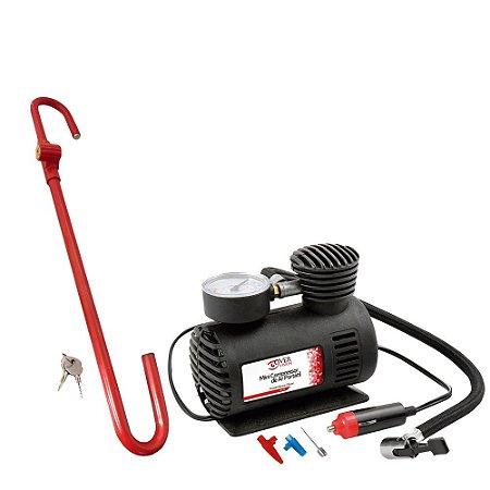 Compressor de Ar Auto 250PSi + Trava Volante e Pedal