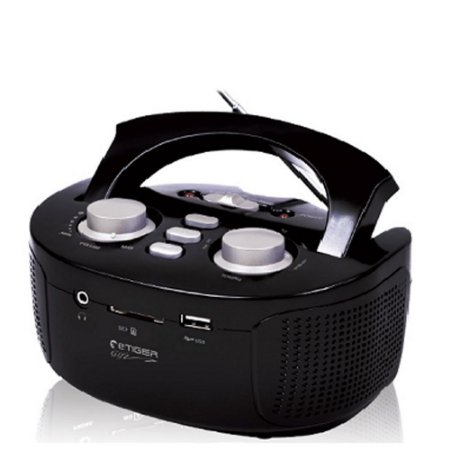 Rádio Boombox De Alto Desempenho  Etiger / Usb - Fm Preto