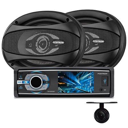 DVD Positron SP4330BT + Alto Falante APQ-6940 + Câmera Ré