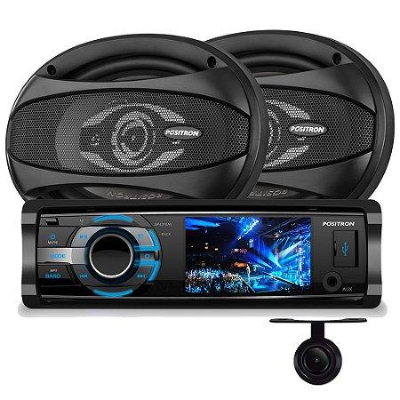 DVD Positron SP4310 + Alto Falante APQ-6940 + Câmera de Ré