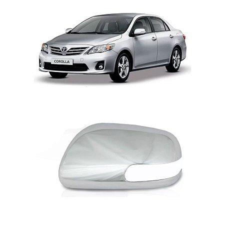 Aplique Retrovisor Cromado ShekParts Corolla Pisca Esquerdo