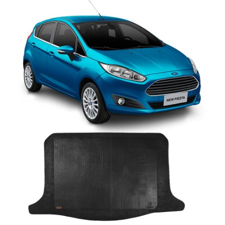 Tapete Borracha Borcol New Fiesta Hatch - Porta Malas