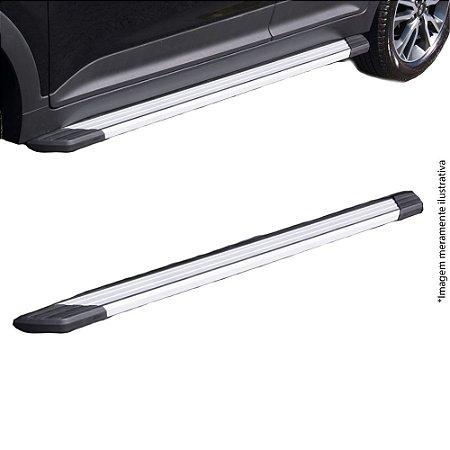 Estribo Bepo Ecosport 13 Alumínio Prata SUV II Com Fixação