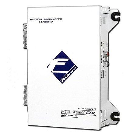 Módulo Amplificador Falcon HS720DX 02 Canais 300WRMS 2 OHMS