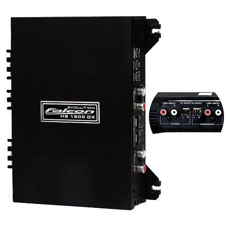 Módulo Amplificador Falcon HS1500DXC 03 Canais 550WRMS 2OHMS
