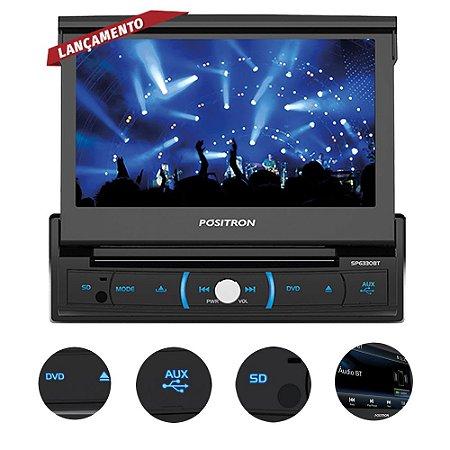 """DVD Automotivo Pósitron SP6330 Tela 7"""" Com Espelhamento"""