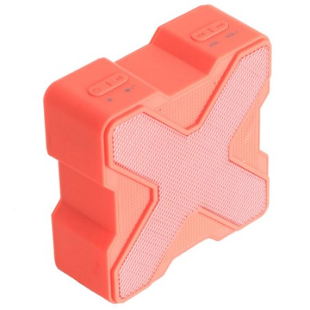 Caixa Acústica Bluetooth V1 LED Colorido - Vermelha