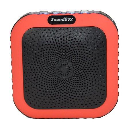Caixa Acústica Bluetooth V4 Portátil com mosquetão Vermelho
