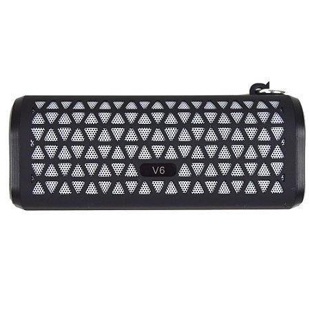 Caixa De Som Bluetooth V6 Portátil - Preto