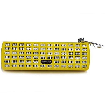 Caixa de Som Bluetooth V7 com Mosquetão - Amarelo