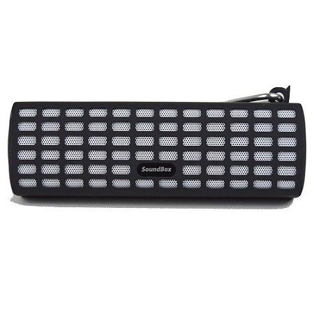 Caixa de Som Bluetooth V7 com Mosquetão - Preto