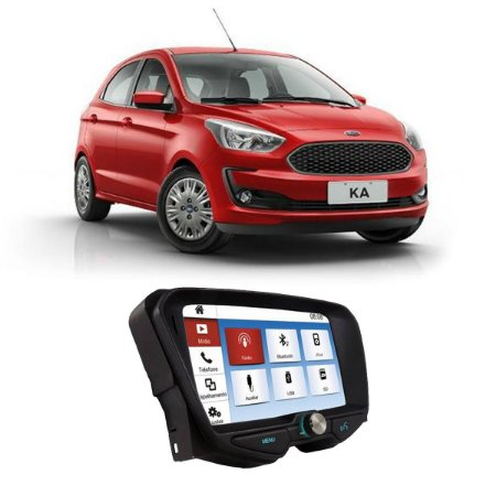 Central Multimídia Original Ford Ka SE 14 a 18 - Plug&Play