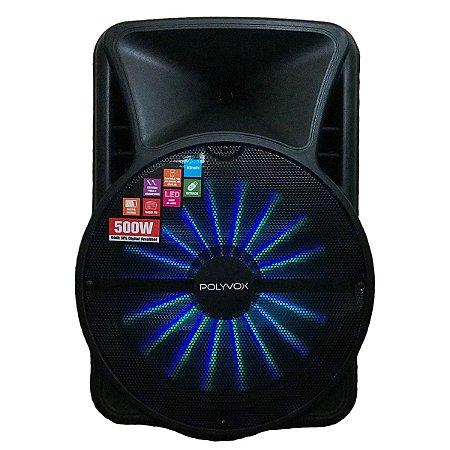 Caixa de Som Amplificada Bluetooth 500W Woofer e Tweeter
