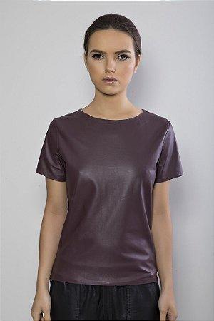 T-shirt em pelica