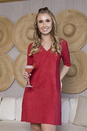 Vestido Camisetão Chamois Vermelho