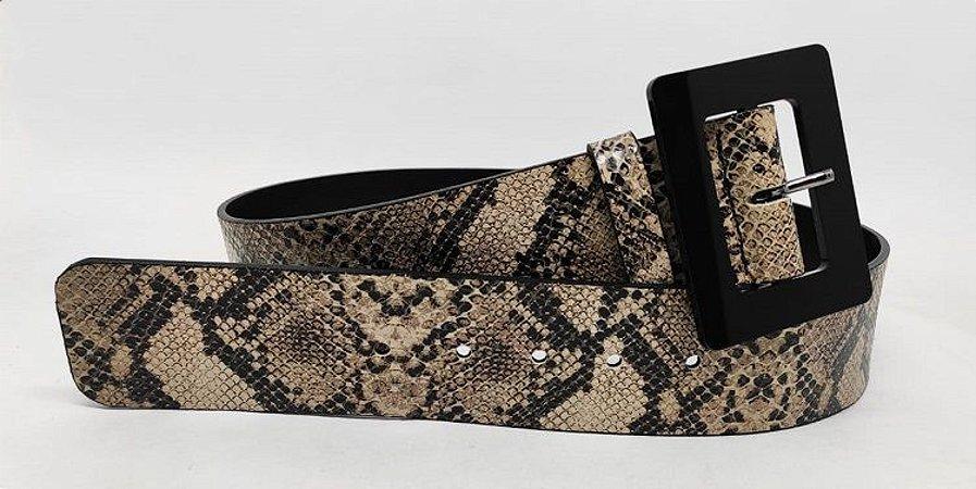 Cinto snake - fivela acrílico