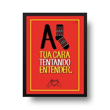 Quadro Poster Interativo - A (?) Tua Cara Tentando Entender