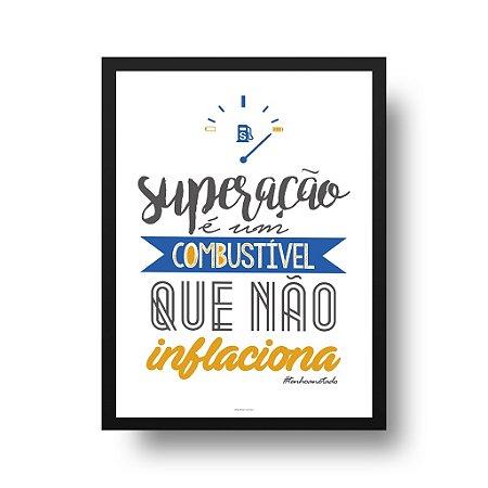Quadro Poster Decorativo Superação - Inspirador, Frase, Motivacional