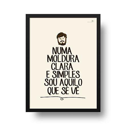 Quadro Poster Los Hermanos - Moldura Clara e Simples
