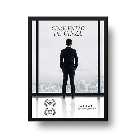 Quadro Poster para Pai - Cinquentão de Cinza