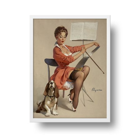 Quadro Poster Decorativo Pin Up Dog Gone Good - Vintage, Retrô, Sexy Girl
