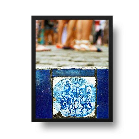 Quadro Poster Decorativo Foto Escadaria Selarón - Rio de Janeiro, Lapa, Santa Teresa