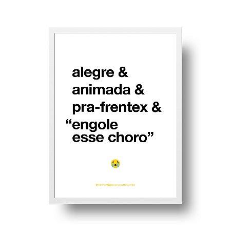 Quadro Poster Decorativo Para Mãe Alegre - Palavras, Homenagem, Mães